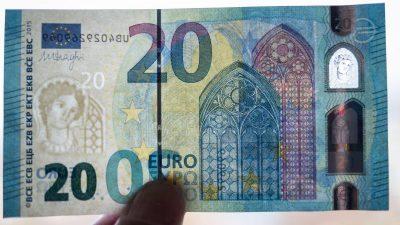 20-Euro-Schein bekommt standardmäßig eine Lackierung