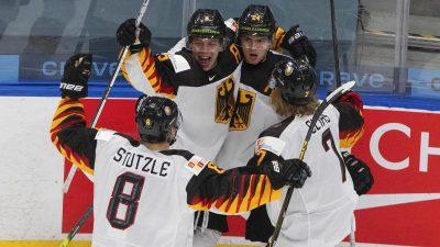 Deutschlands Eishockey-Junioren stehen im Viertelfinale