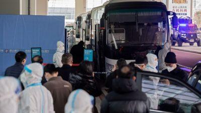WHO-Experten treffen Behördenmitarbeiter in Wuhan
