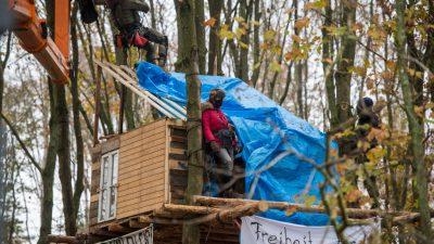 Mann bei Brand von Baumhaus in Hambacher Forst schwer verletzt