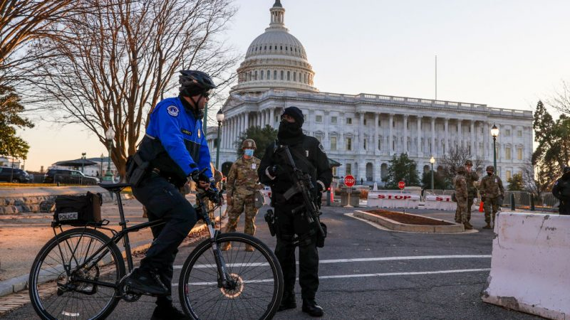 Nationalgardisten in Washington sichern bewaffnet Amtsübergabe an Biden ab