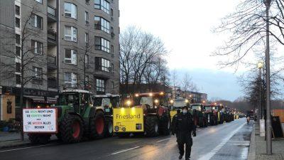 Unzählige Traktoren unterwegs nach und in Berlin: Landwirte protestieren gegen Klöckners Politik