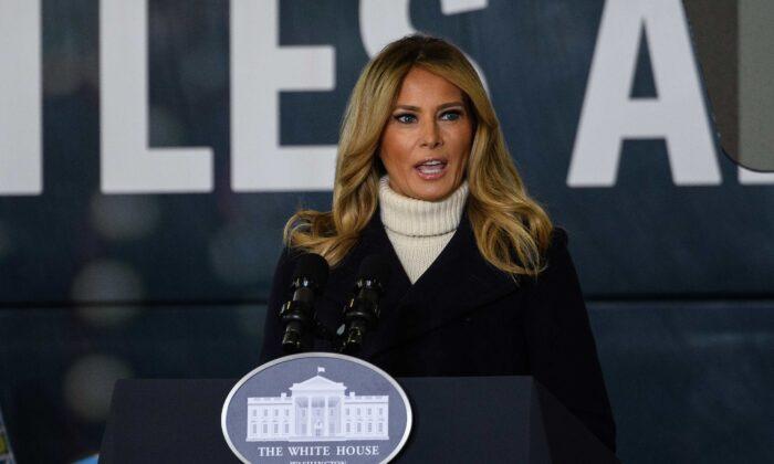 """First Lady """"enttäuscht"""" über Gewalt in Washington, ruft Amerika zur """"Heilung"""" auf"""