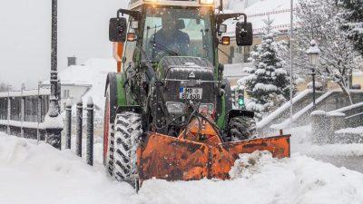 Wetterdienst: Bis Montag Schneefälle und Schneeverwehungen