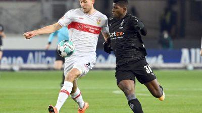 Gladbach verpasst dritten Ligasieg in Serie – Remis beim VfB