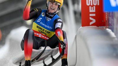 Rodeln: Geisenberger mit Bahnrekord zum 50. Weltcup-Sieg
