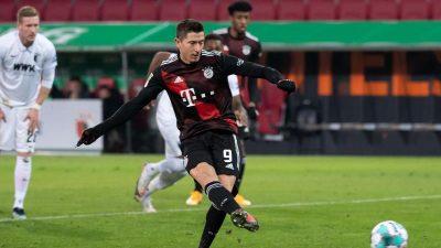 Mit Dusel und dank Lewandowski: Bayern zittert sich zum Sieg