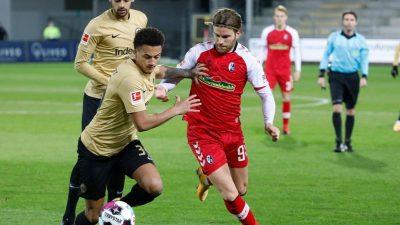 Nur Remis – Frankfurter Siegesserie endet in Freiburg