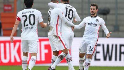 Eintracht Frankfurt weiter im Aufwind: Sieg in Bielefeld