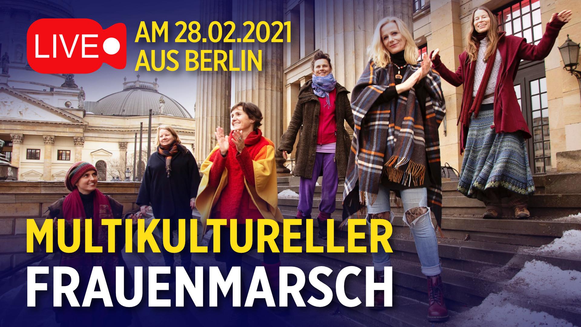 """Multikultureller Frauenmarsch in Berlin: """"Wir gehen auf die Straße für die Zukunft unserer Kinder"""""""