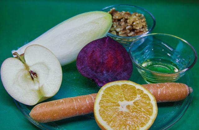 Zutaten für Chicorée Salat
