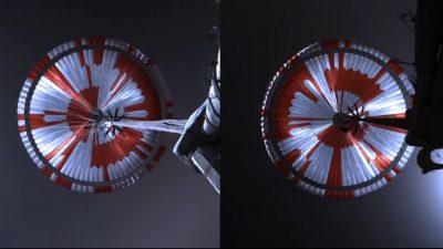 Internet entziffert Geheimbotschaft im Fallschirm von Mars-Rover binnen sechs Stunden
