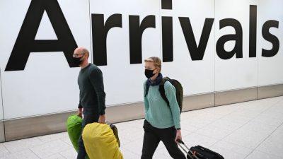 London verpflichtet Reiserückkehrer aus Risikogebieten zu Quarantäne in Hotels