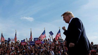 70 Prozent der Republikaner würden den Beitritt zu einer von Trump geführten Partei in Betracht ziehen