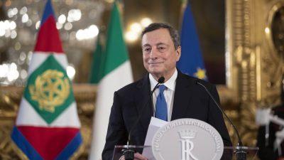 "Ex-Premier Renzi: Draghi soll ""Italien retten, wie er den Euro gerettet hat"""