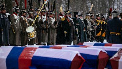 Russland und Frankreich bestatten Tote von Napoleons Russlandfeldzug