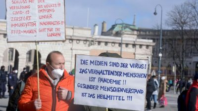 Video: Großdemo in Wien gegen staatliche Corona-Politik