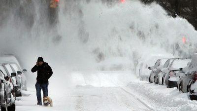 Heftiger Schneesturm erreicht US-Ostküste