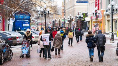 Hunderte Russinnen nutzen Valentinstag zur Unterstützung von Nawalnys Frau