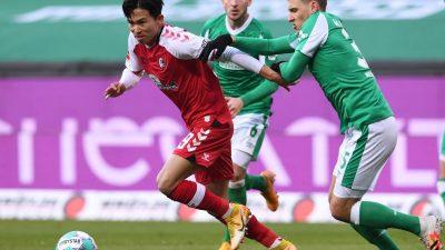 Keine Tore in Bremen: Werder zu stabil für Freiburg