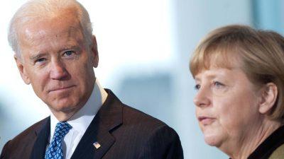 Merkel und Biden fordern Rückzug russischer Truppen von Grenze zur Ost-Ukraine