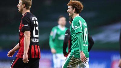 Werder Bremen stoppt Frankfurter Serie