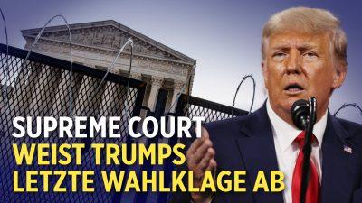 12 US-Staaten verklagen Biden wegen Klima-Maßnahmen   Supreme Court weist Trumps letzte Wahlklage ab