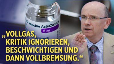 """""""Vollgas, Kritik ignorieren, beschwichtigen und dann Vollbremsung"""" – Patientenschutz zu AstraZeneca"""