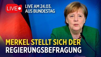 Kanzlerin Angela Merkel im Bundestag in der Kritik – Regierungsbefragung