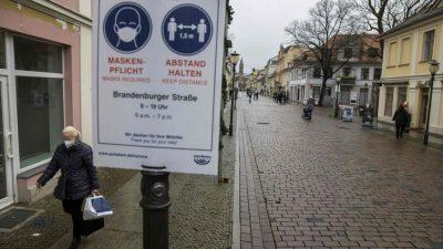 """Potsdam: Erlaubnis zum Einkauf mit negativem Test sorgte für einen """"Flop"""""""