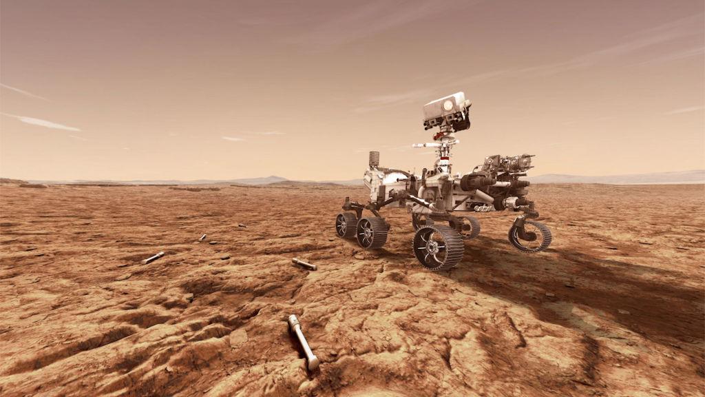 """Mars-Rover """"Perseverance"""" macht erste Testfahrt auf Rotem Planeten"""
