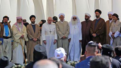 Papst Franziskus trifft Schiitenführer Sistani im irakischen Nadschaf