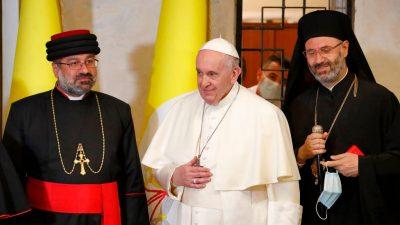"""Papst in Mossul: """"Christen im Irak und im Nahen Osten sollen bitte in ihren Heimatländern bleiben"""""""