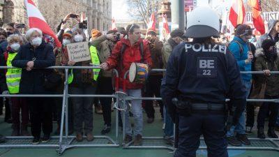 Demos gegen die Corona-Maßnahmen in Deutschland, Schweiz, Österreich und Schweden