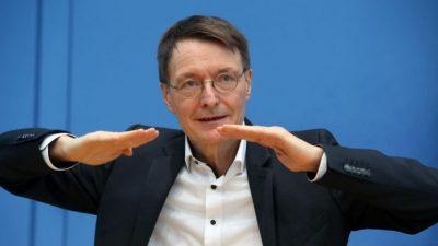 """Lauterbach in Erklärungsnot wegen Falschaussage: """"Corona-Intensivpatienten werden immer jünger"""""""