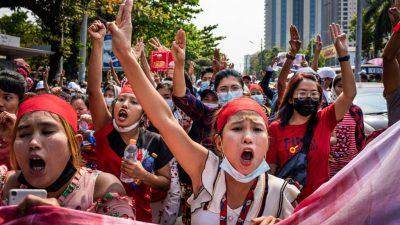 Landesweite Proteste gegen Militärjunta in Myanmar lassen nicht nach