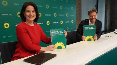"""Wahlprogramm der Grünen: """"Energierevolution"""" per Gesetz und Erziehungsstaat"""
