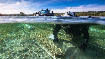 Ur-Boot im Bodensee wird geborgen