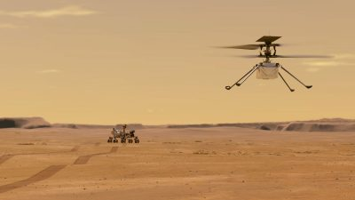 """""""Perseverance"""" wandelt CO2 in Sauerstoff um + VIDEO vom ersten Helikopterflug jenseits der Erde"""