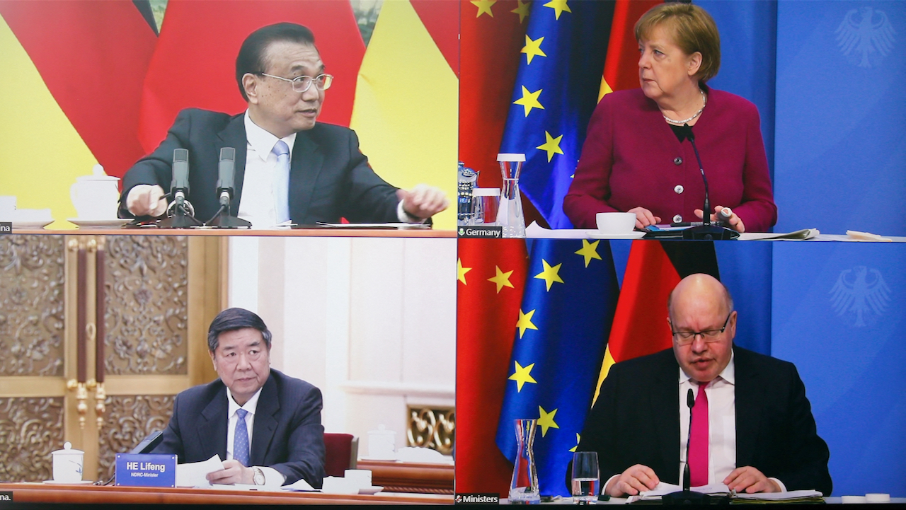 """Merkel drängt auf Dialog – Li fordert """"Nicht-Einmischung in innere Angelegenheiten"""""""