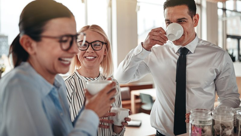 Kaffee-Pause im Büro