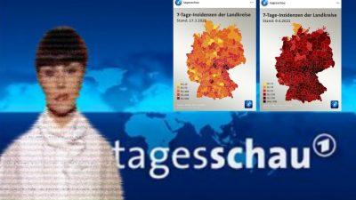 """Manipulationsvorwürfe vor Gesetzesänderung: """"Tagesschau"""" zeichnet tiefrote Corona-Karte"""