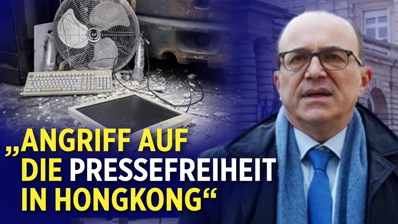 Deutsche und französische Abgeordnete verurteilen die Attacke auf die Epoch Times Hongkong