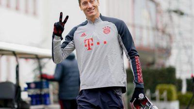 Bayern-Torjäger Lewandowski nimmt Lauftraining auf
