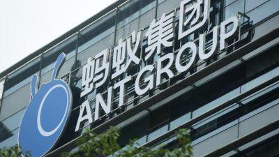 Neuer Schlag gegen Alibaba: Finanzsparte Ant Group im Visier
