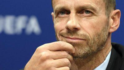 UEFA-Chef: Gespräche über Strafe für Super-League-Teams