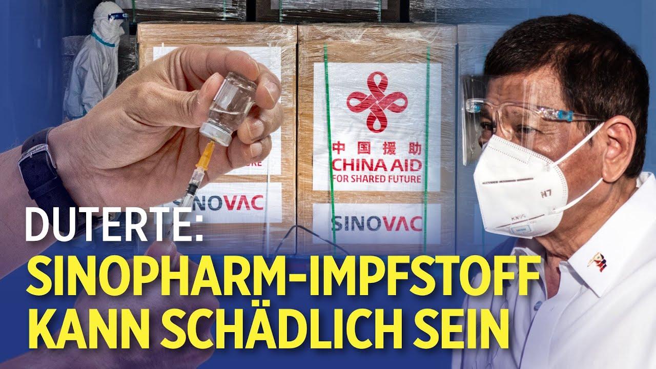 """""""Gefährlich"""": Philippinischer Präsident Duterte schickt gespendete Impfstoffe aus China zurück"""
