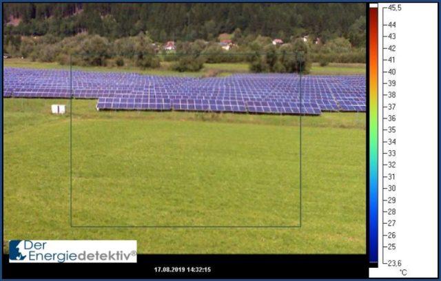 Energiewende: Solaranlage auf einer Grünfläche