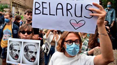 Belarussen zeigen Staatschef Lukaschenko in Deutschland an