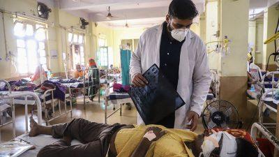 Neu Delhi richtet Spezialabteilungen wegen tödlicher Pilzinfektion bei Corona-Patienten ein